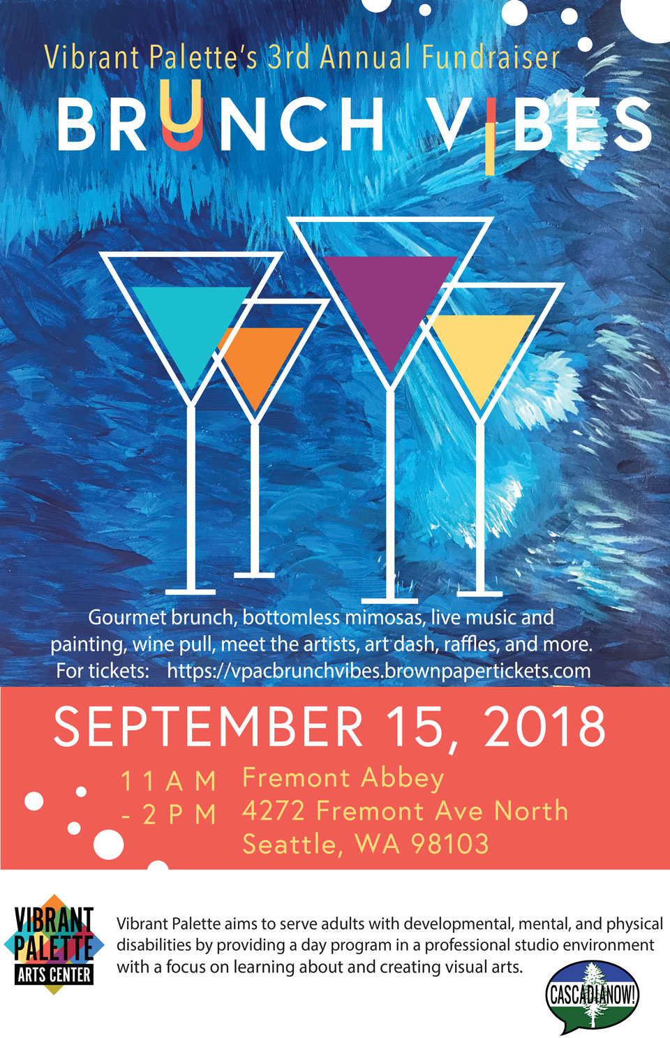 Poster for Brunch Vibes, A Vibrant Palette Fundraiser